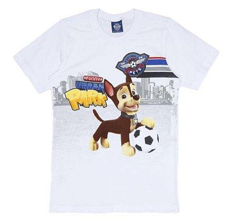 Camiseta da Patrulha Canina - Chase - Branca - Malwee