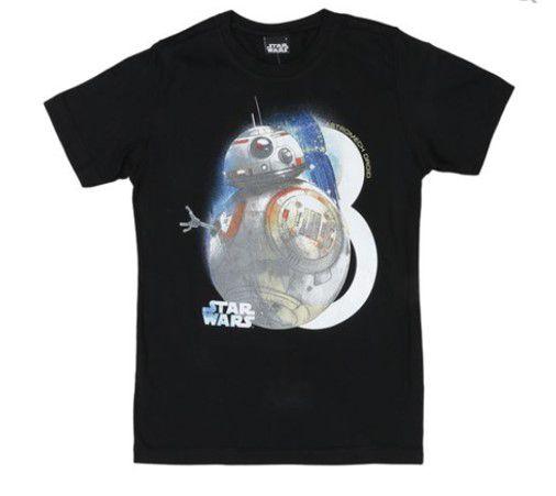 Camiseta BB8 - Star Wars - Preta - Malwee
