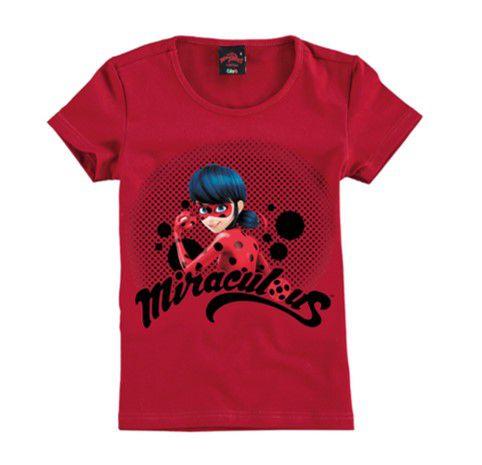 Blusa - Miraculous - Ladybug - Vermelha - Malwee