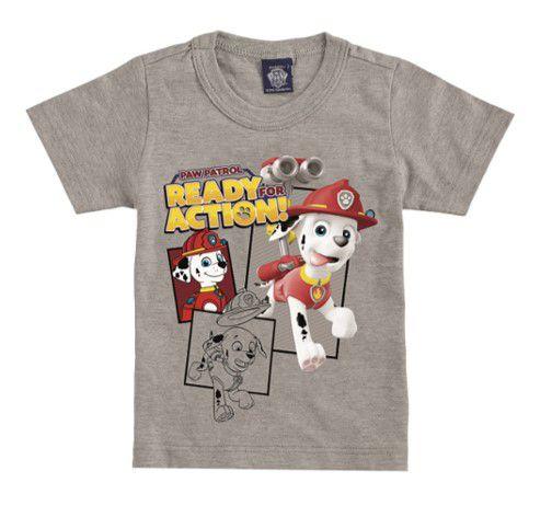 Camiseta da Patrulha Canina - Marshall - Cinza - Malwee