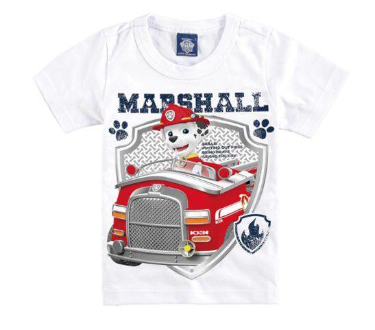 Camiseta Branca da Patrulha Canina - Marshall - Malwee