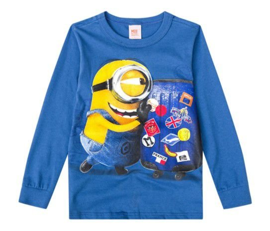 Camiseta dos Minions - Azul Royal - Malwee