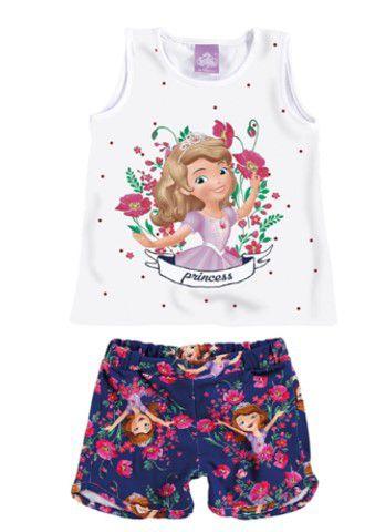 Conjunto de Blusa e Shorts Estampado - Princesa Sofia - Disney - Malwee