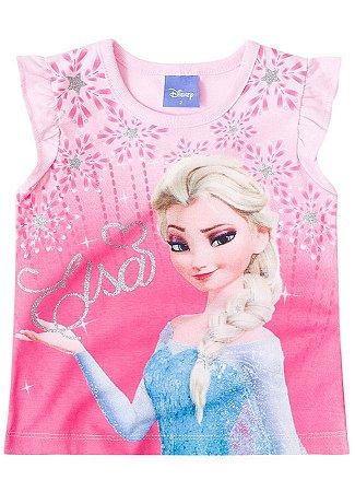 Blusa Elsa - Frozen Disney - Rosa Claro - Brandili