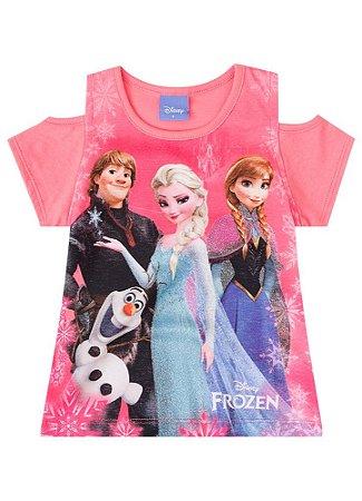 Blusa Frozen Disney - Salmão