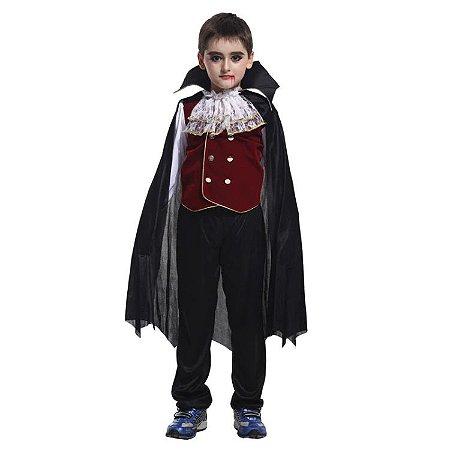 Fantasia de Vampiro Mestre - Preto e Roxo