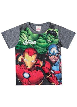 Camiseta Avengers Brilha Escuro - Cinza - Brandili