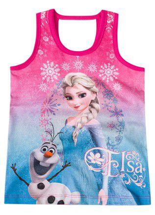 Blusa Infantil Frozen Rosa - Brandili