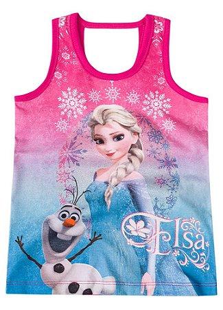 Blusa Elsa e Olaf ( Frozen) - Pink