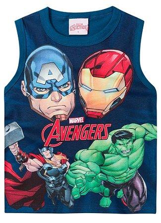 Regata Infantil Avengers Azul Petróleo Brilha no Escuro - Brandili