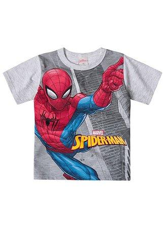 Camiseta Homem Aranha - Marvel - Cinza