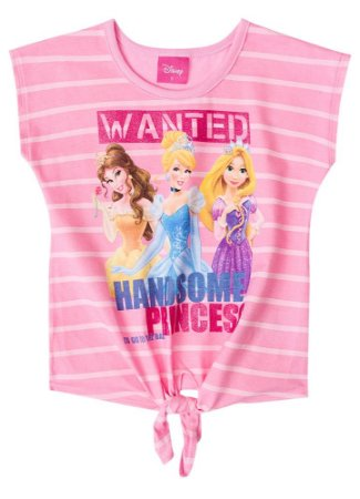 Blusa Princesas da Disney - Rosa Claro - Brandili