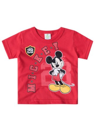 Camiseta do Mickey - Vermelha - Disney Baby