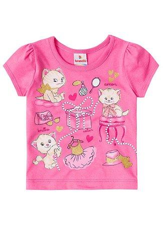 Blusa Baby Gatinhos - Pink