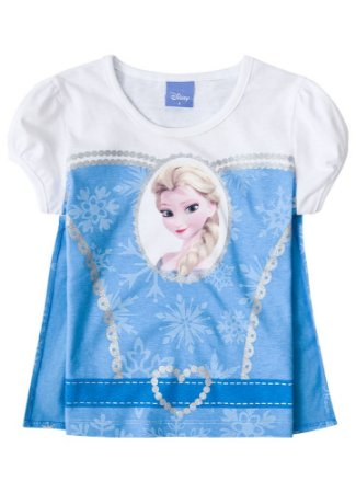 Blusa da Elsa com Capa - Disney Frozen - Azul