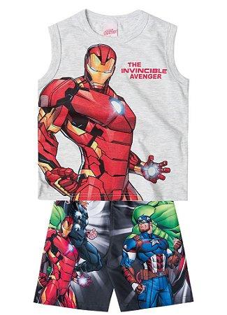 Conjunto de Regata e Bermuda - Homem de Ferro - Avengers
