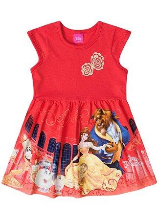 Vestido da Bela e a Fera - Disney - Vermelho - Brandili