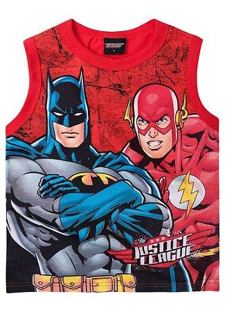 Regata Batman e Flash - Vermelha - Liga da Justiça