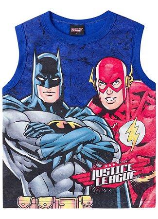 Regata Batman e Flash - Azul Royal - Liga da Justiça