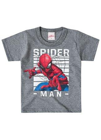 Camiseta do Homem Aranha - Cinza- Brilha no Escuro - Brandili
