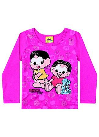 Blusa Baby Mônica e Magali - Pink