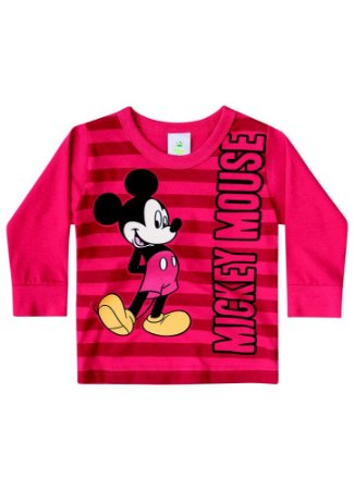 Camiseta Baby do Mickey - Vermelha - Disney - Brandili