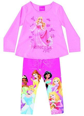 Conjunto de Blusa e Legging - Princesas da Disney - Aurora