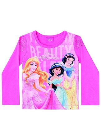 Blusa Princesas da Disney - Rosa - Brandili