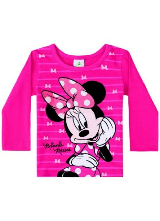 Blusa Minnie - Disney Baby - Rosa - Brandili