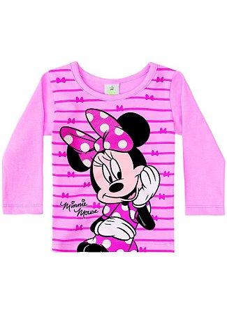 Blusa Minnie - Disney Baby - Rosa Claro - Brandili