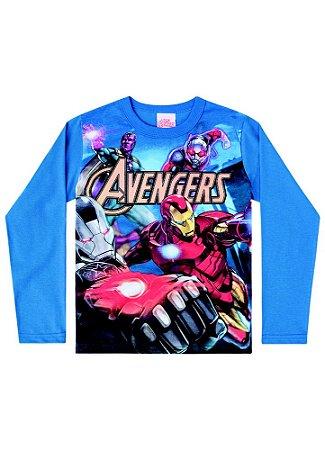 Camiseta Avengers - Marvel - Azul
