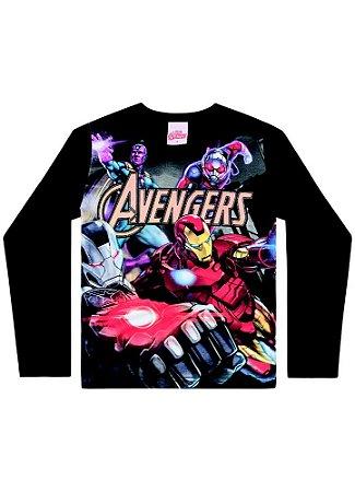 Camiseta Avengers - Marvel - Preta - Brandili