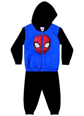 Conjunto de Jaqueta e Calça de Moletom - Homem Aranha - Azul