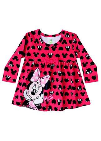 Vestido da Minnie - Corações - Disney Baby - Vermelho