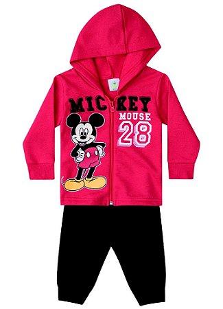 Conjunto de Jaqueta e Calça de Moletom do Mickey - Vermelho