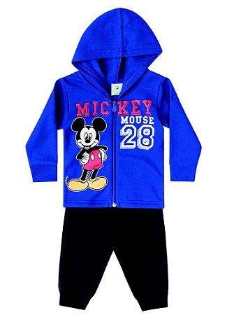 Conjunto de Jaqueta e Calça de Moletom do Mickey - Azul e Preto - Brandili