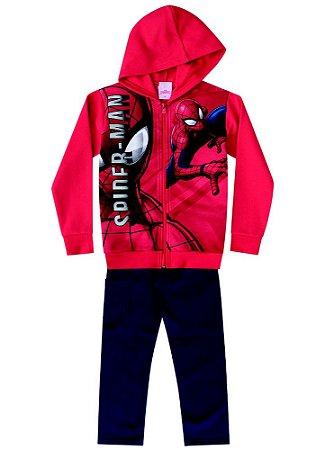 Conjunto de Jaqueta e Calça de Moletom - Vermelho - Homem Aranha