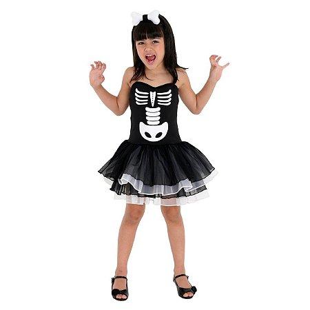 Fantasia da Bruxa Esqueleto - Halloween