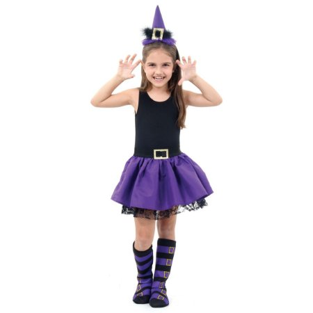 Fantasia da Bruxinha Purple - Halloween