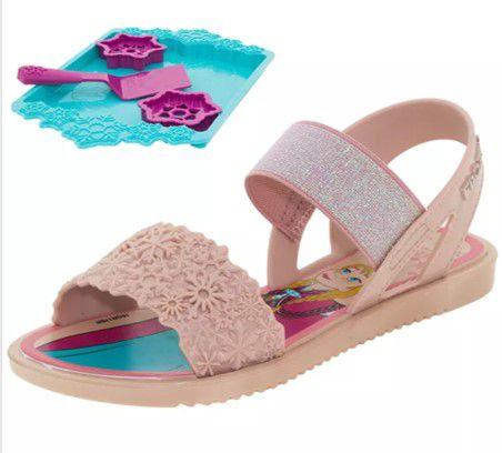 Sandália Frozen - Kit Cookies - Rosa - Com Brinde - Grendene