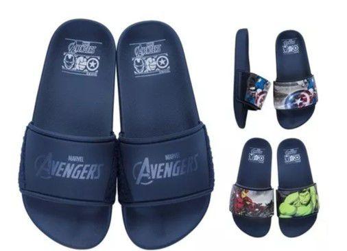 Chinelo Avengers Troca Tira Heróis - Azul - Grendene