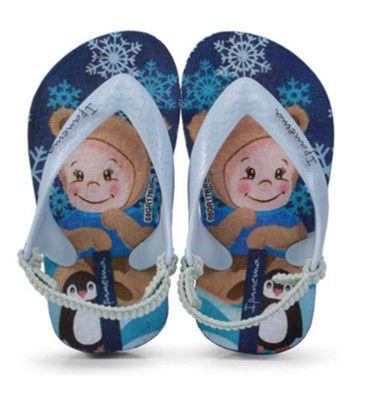 Chinelo com Tiras Elásticas - Snow Baby - Azul - Grendene Ipanema