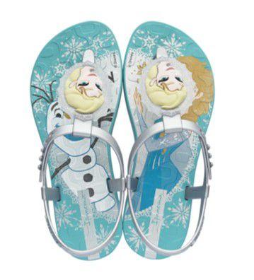 Sandália de Dedo Disney Frozen - Verde Água