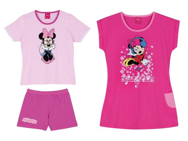 Combo Infantil Minnie - Camisola e Short Doll - Rosa - Lupo