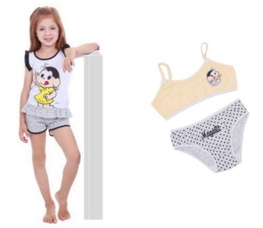 COMBO SHORT DOLL + CALCINHA + TOP - MAGALI  - POR 58,90