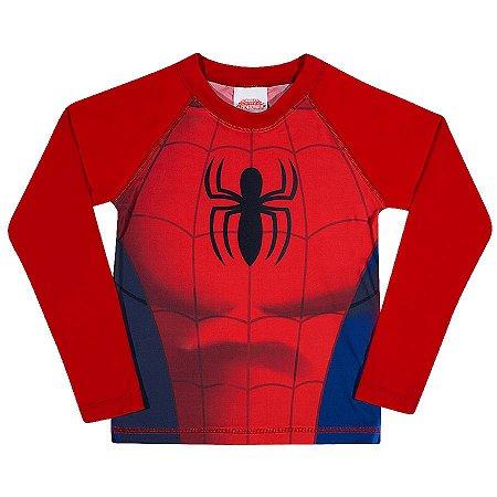 Camiseta Proteção UV 50 FPS  - Homem Aranha - Vermelha