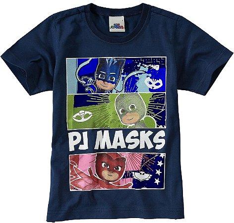 Camiseta PJ Masks - Azul Marinho