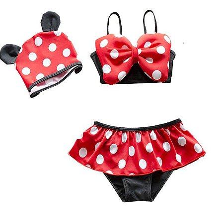 Biquini da Minnie com Touca - Disney