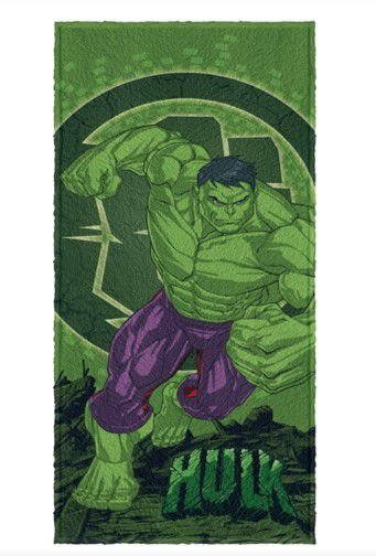 Toalha Felpuda do Hulk - Avengers