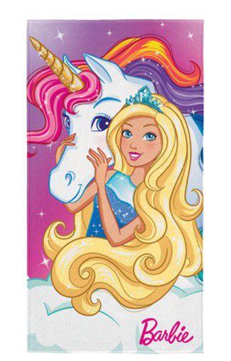 Toalha Aveludada Transfer da Barbie - Reinos Mágicos